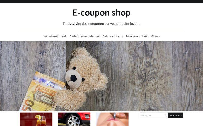 E-coupon shop - Trouvez vite des ristournes sur vos produits favoris