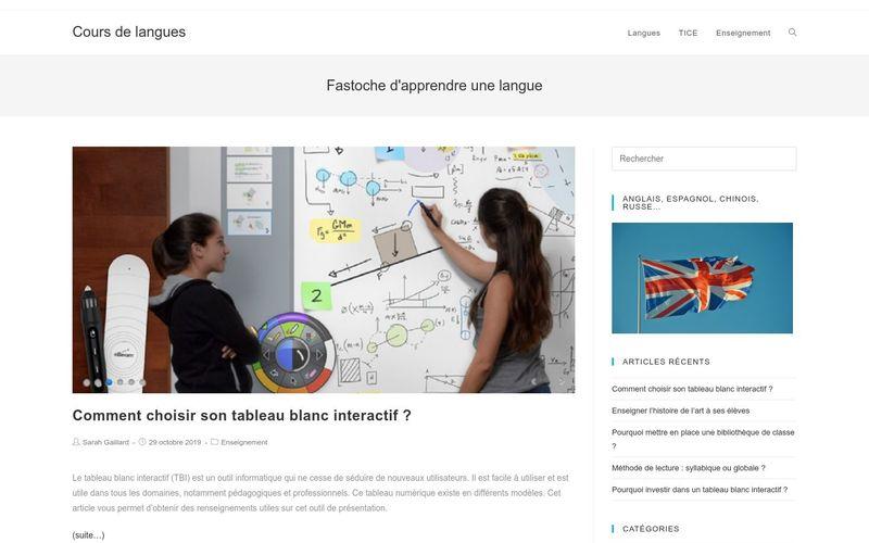 Cours de langues - Fastoche d'apprendre une langue