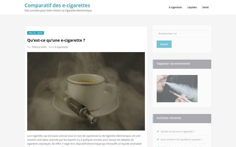 Comparatif des e-cigarettes - Des conseils pour bien choisir sa cigarette électronique