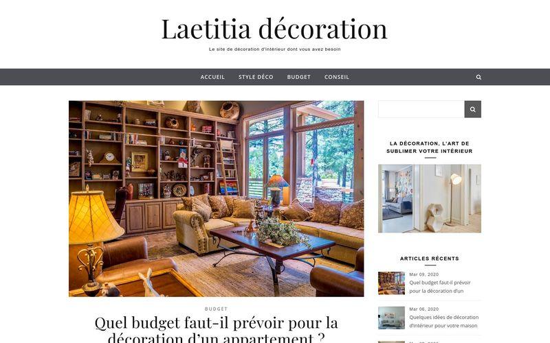 Laetitia décoration - Le site de décoration d'intérieur dont vous avez besoin