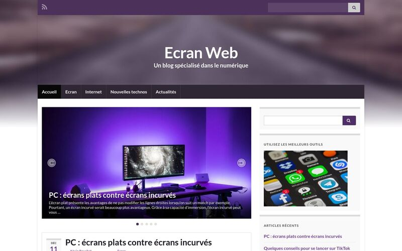 Ecran Web - Un blog spécialisé dans le numérique